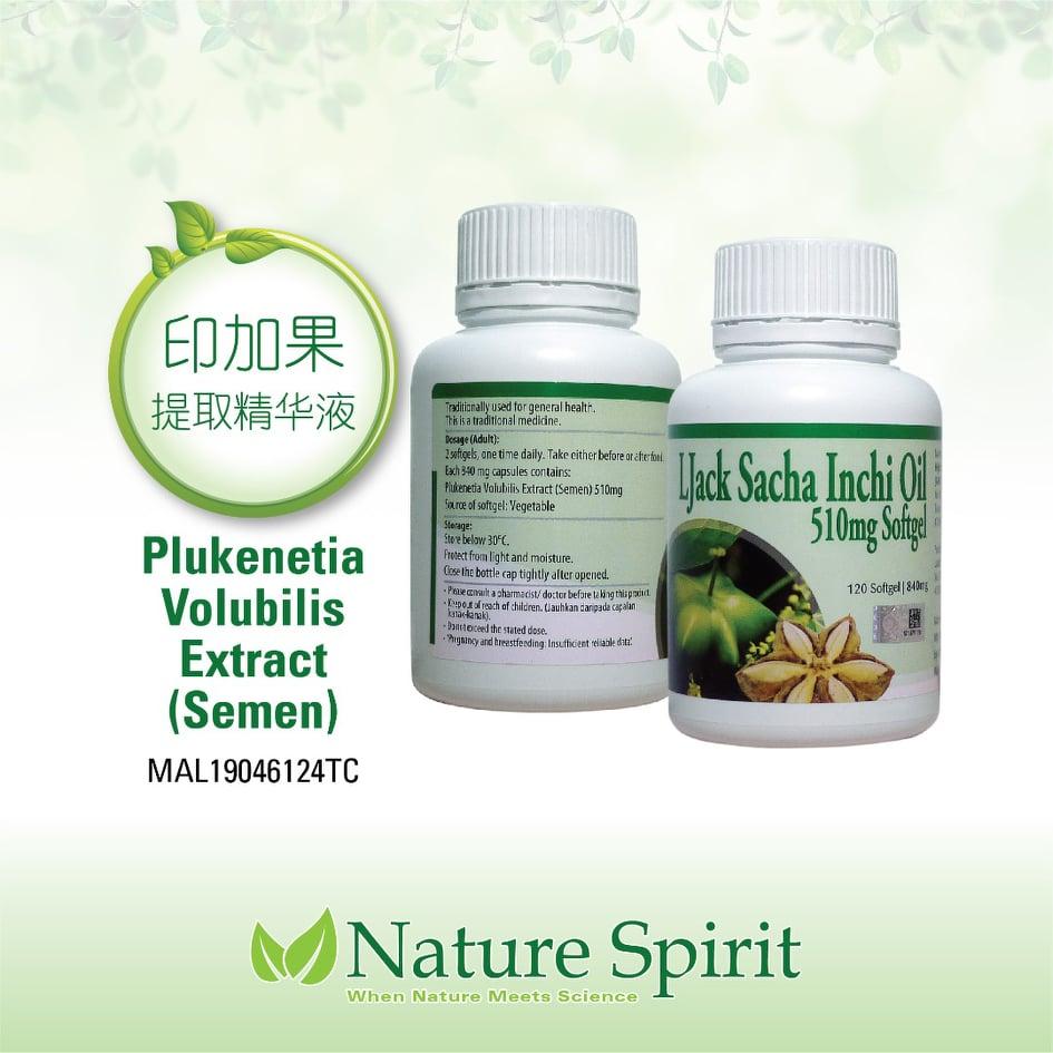 Nature Spirit Ljack Sacha Inchi Oil 120's (Extract Semen)